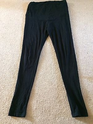 Ladies Over The Bump Black Leggings Size 12 From Peacocks