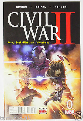 Civil War II # 0 VF NM Prequel Issue Marvel Comics Cover Coipel Ponsor 1st Print