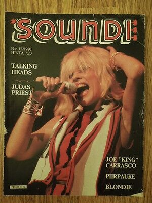 Finnish Soundi Magazine 12/1980 Blondie on cover