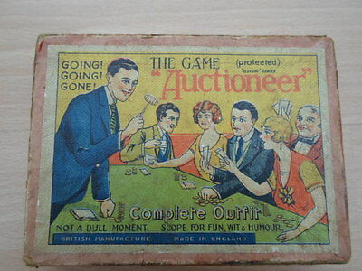 Vintage 1930's Game 'Auctioneer' With Wooden Gavel