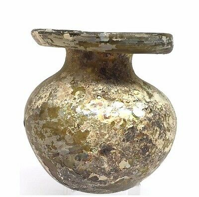 Ancient Roman Glass Jar  .