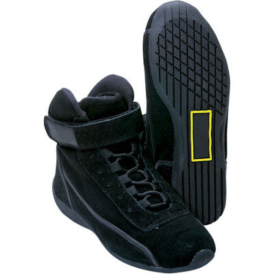 Impact Racing H/T Bolt Driver Shoes - High Top - All Sizes, Black - SFI 3.3/5