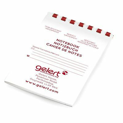 Gelert 25 Page Outdoor Waterproof & Tear Resistant Spiral Notebook Camping