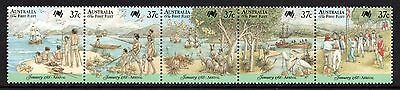 AUSTRALIA 1988 Bicent of Australian Settlement/Arrival: Strip of 5 Stamps UM/MNH