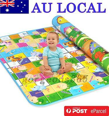 Baby Crawl Mat Game Blanket Pad Carpet Floor Gift Forest Rug AU Local