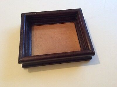 Old vintage small deep picture/ photo frame