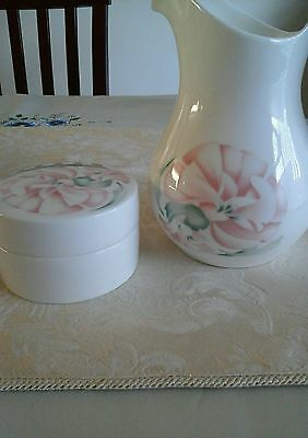 Royal doulton Cacharel trinket pot and jug