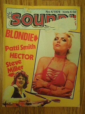 Finnish Soundi Magazine 4/1978 Blondie on cover