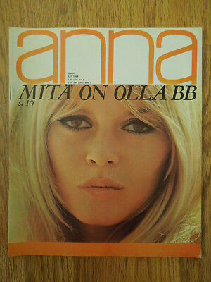 Finnish Anna Magazine 26/1969 Brigitte Bardot on cover