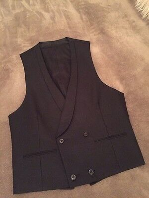 Waistcoat-Black Marcella-small/36-Double Breasted-Spencer Hart