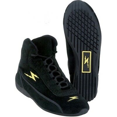 Impact Racing M/T Sprint Driver Shoes - Mid-Top - All Sizes, Black - SFI 3.3/5