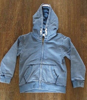 Boys M&S striped hooded jumper top Age 2-3 years