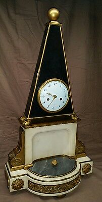 REDUCED PRICE  Very Rare French Obelisk Form Clock, C.1800
