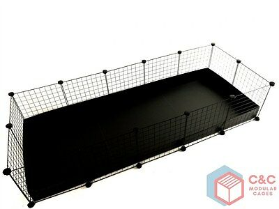 GUINEA PIG C&C CAGE 5x2: Panels x 14 + Connectors x 28 + CORREX TRAY INCLUDED