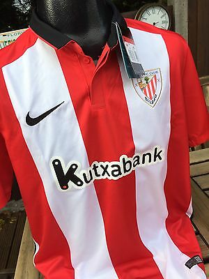 Athletic Bilbao Home Football Shirt Size Large Nike Spain Rare Retro Brand New