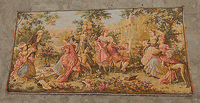 Vintage French Party And Painting Tapestry 96X49cm (A1313)