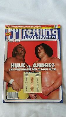 Pwi Wrestling Magazine May 1987 Hogan And Andre Front Cover.