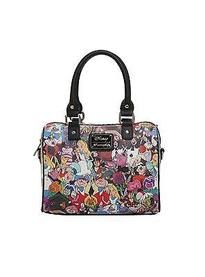 Disney Loungefly Alice In Wonderland Characters Barrel Bag Purse Chesire Cat Nwt