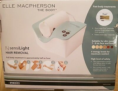 Brand New Elle Macpherson The Body by Homedics IPL Hair Removal with Sensilight