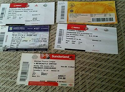 Sunderland used match tickets x 12