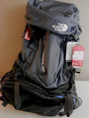 NEW WOMENS The North Face Terra 40 Camping Hiking Backpack GREY/GRAY  Sz L/M