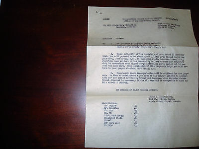 military memorabilia letter from Fort Bragg dated  April 1943 Ration books
