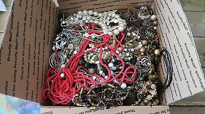 25 lbs of UNSEARCHED Junk Jewelry Box