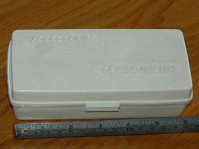 Vintage Plastic Sewing Accessories Box