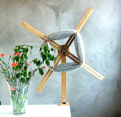 Large Portable Wooden Yarn Swift,Adorable Knitting Skein Winder.From Solid Birch
