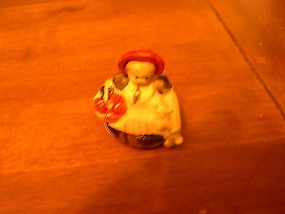 Antique Miniature Sewing Tape  Shape Of ? Little Red Riding Hood