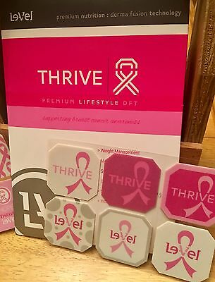 Le-Vel THRIVE PINK Limited Edition Pack of 30 Skin Patch Patches NEW Weight Mgmt