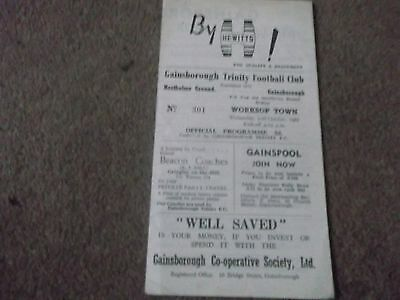 Rare Gainsborough Trinity V Worksop Town Fa Cup Qualifyer 10Th October 1962