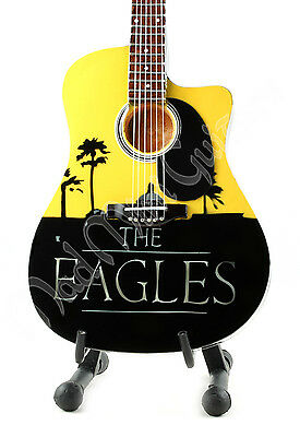 Miniature Guitar THE EAGLES with stand. Hotel California