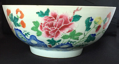 Chinese Famille Rose Porcelain Bowl Floral