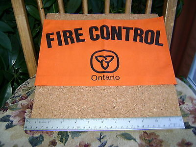 ONTARIO FOREST FIRE FIGHTER BACK PATCH Canada,conservation,mnr,hunting,fishing