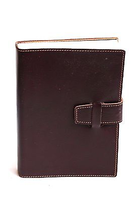New Large Brown Italian Leather Journal ~ with Close Tab, Rustic