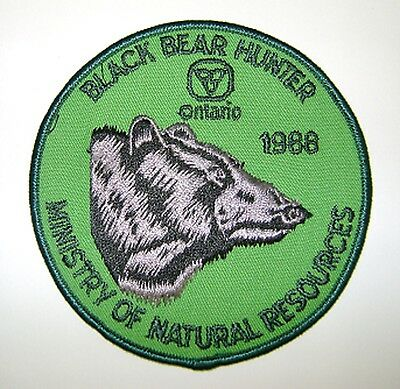 1988  RARE MNR,ONTARIO, BEAR  Hunting Patch,Crest, [deer,bear,moose,elk]