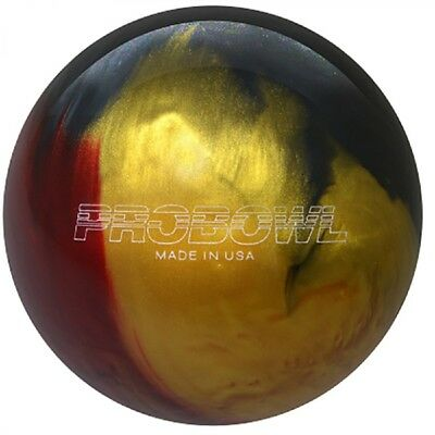 Pro Bowl Ruby red/Grey/Gold Polyester Bowling Ball