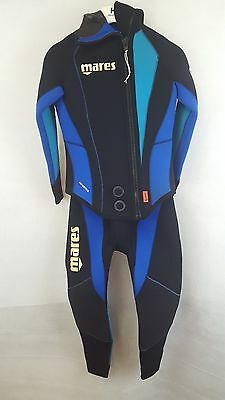 Mares Antartica 7mm Semi Dry Suit Size 2 - Black & Blue - New Without Tags