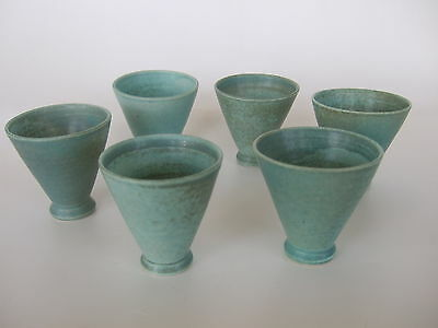 Set 6 Deichmann New Brunswick Pottery Small Cups / Shot Glasses