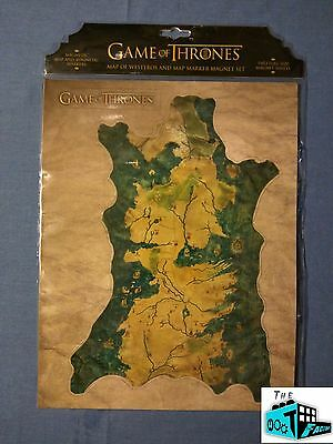 "WESTEROS 12"" x 9"" MAP MAGNET SET - Game of Thrones - Sci-Fan Block - 01/17"
