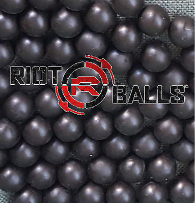 Re-Usable Training Foam Rubber balls 68cal Tac Balls Paintballs 500 Rounds Black