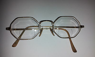 "Vintage ""hud-Us"" 1/20 12K Gf Full Frame Wire Glasses-Great Original Condition-"