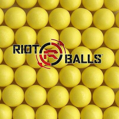Re-Usable Training Foam Rubber balls 68cal Balls Paintballs 500 Rounds Yellow