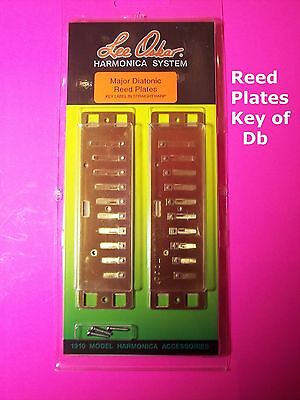 Lee Oskar 1910RP-Db MAJOR DIATONIC REED PLATE PLATES Key of Db NEW CLOSEOUT SALE