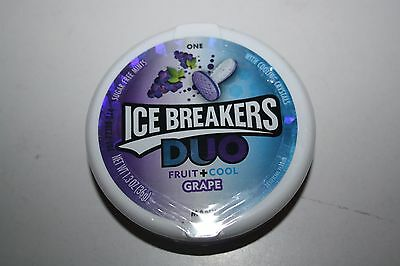 2 x ICE BREAKERS Sugar Free Mints DUO Fruit + Cool GRAPE 36g each