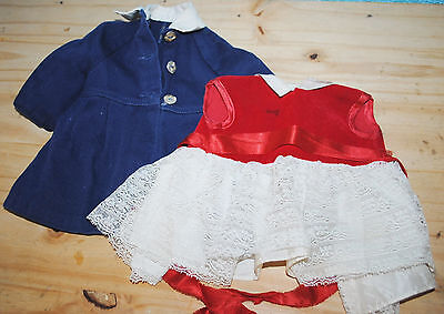 Vintage Chatty Cathy clothes outfit red dress blue coat LOOK!