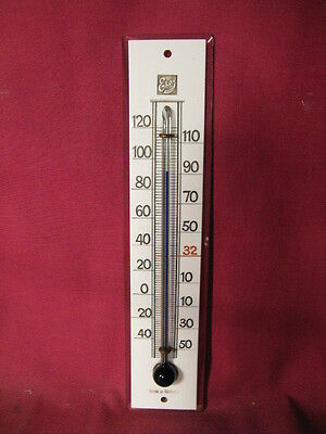 Antique Cased Glass Ekay Brand Wall Thermometer Made In Germany