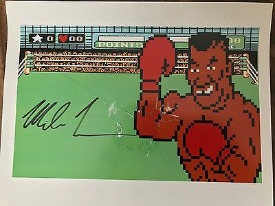 Mike Tyson Autographed Punch Out Print
