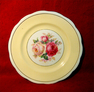 """ROYAL ALBERT """"MILADY"""" BREAD & BUTTER PLATE(S) 6 3/8"""" w/ROSES MADE IN ENGLAND"""